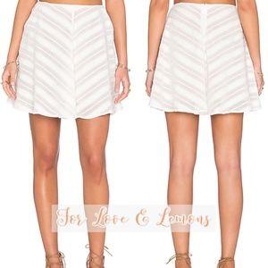 For Love & Lemons Chevron Mini Skirt S EUC